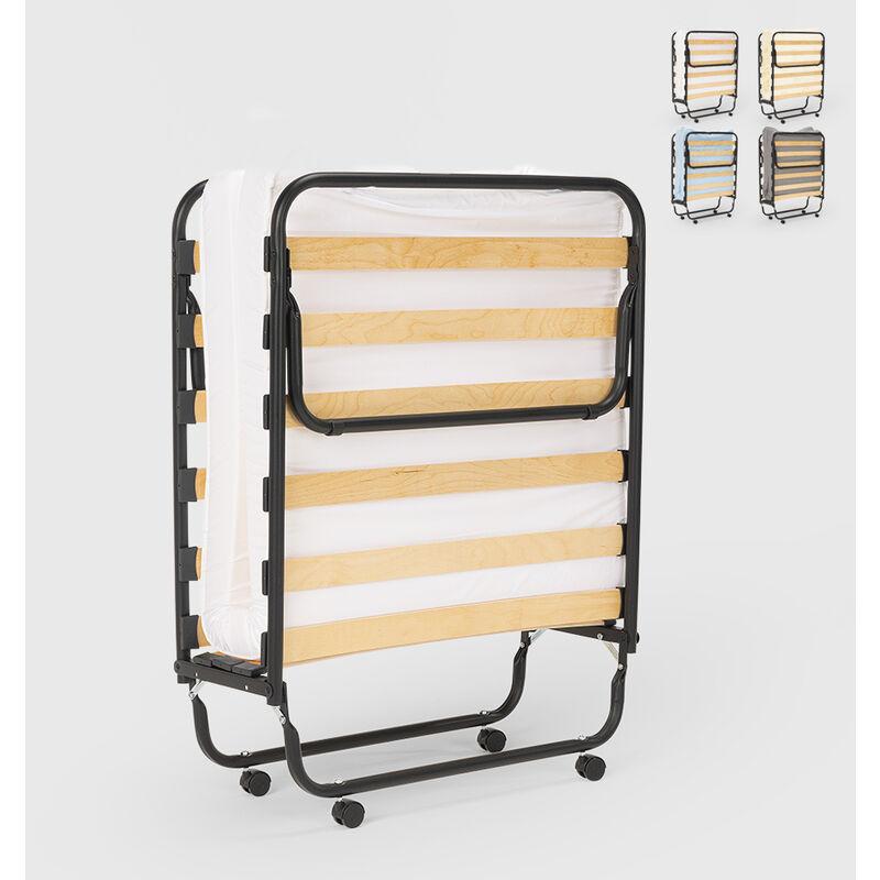 Klappbett mit Matratze und Mikrofaserlatten 80x190 Apollo | Farbe: Weiß - LLB LIVING LIFE BED