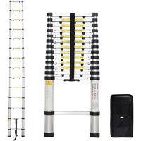Klappleiter, Teleskopleiter, 4,1 Meter, Extra gap, GRATIS Tragetasche, EN 131-6, Maximale Belastbarkeit: 150 kg