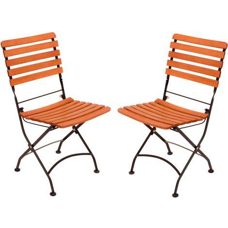 2er Set Garten-Stühle, Höhe 89 cm, Harms WIEN - h304931-2