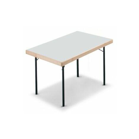 Gestell schwarz HxBxT Extra starke rechteckige Platte Certeo Klapptisch Klapptisch Mehrzwecktisch Konferenztisch 720 x 1200 x 800 mm Platte Buche-Dekor