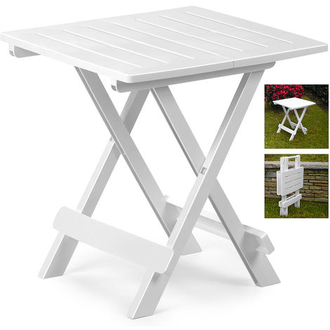 Klapptisch Beistelltisch.Klapptisch Adige Beistelltisch Campingtisch Gartentisch Tisch Weiß