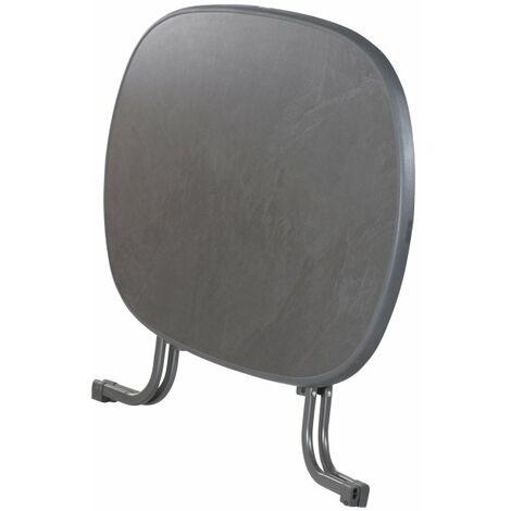 Klapptisch mit Dekorplatte, eisengrau, 140x90 cm