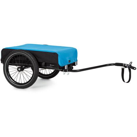 Klarfit Companion Remolque de carga de 40kg/50L Remolque de bicicleta Carretilla