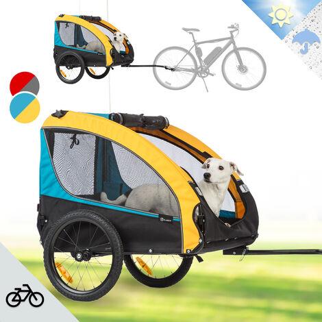 Klarfit Husky Race Remolque de bicicleta para perros 282l 40kg Lona Oxford 600D color azul