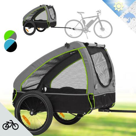 Klarfit Husky Remolque para bicicletas para perros aprox. 250 L Lona 600D Oxford Verde