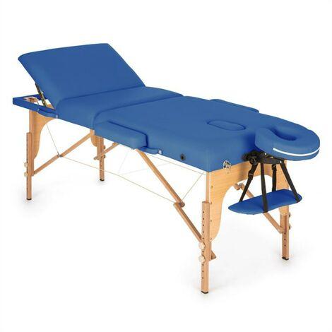 Klarfit MT 500 Table de massage pliante 210 cm 200 kg mousse fine -bleu