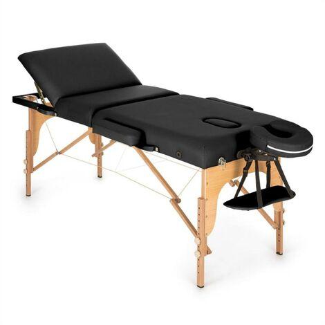Klarfit MT 500 Table de massage pliante 210 cm 200 kg mousse fine -noir
