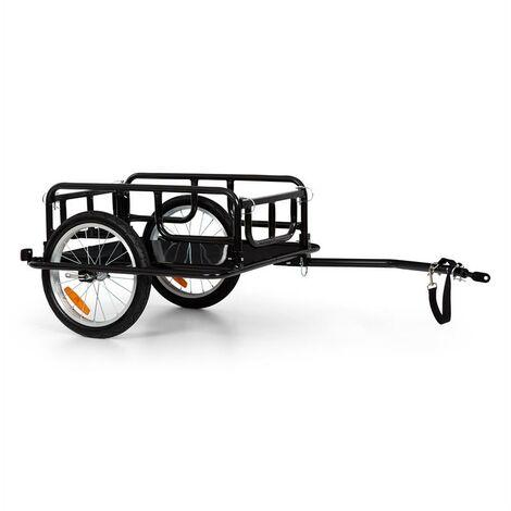"""Klarfit OX Remorque pour vélo 65 L / 40 kg , pneus 16"""" x 1,75"""" - noir"""
