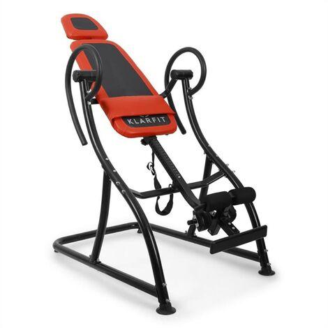 Klarfit Relax Zone Comfort Table d' inversion pour exercices dorsaux 150kg max.