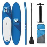 Klarfit Spreestar tabla para surf de pala hinchable Set de tabla para SUP 305 x 10 x 77 Azul