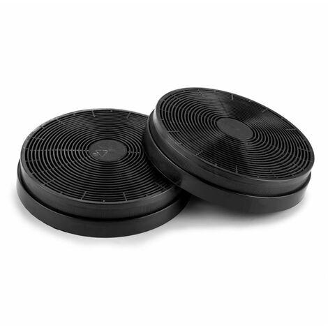 Klarstein 2 Filtres à charbon actif pour hotte aspirante renouvellement d'air Ø18cm