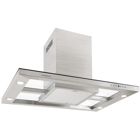 Klarstein 90DS3 Stainless Steel Cooker Hood Extractor Fan 90cm