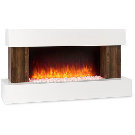 Klarstein Albertville Electric Fireplace 1000/2000W InstaFire Remote Control White