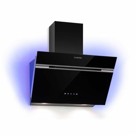 Klarstein Alina Campana extractora de 60cm 600 m³/h Pantalla led Luz de ambiente Negra