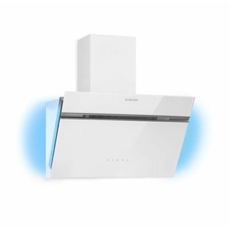 Klarstein Alina Cooker Extractor Hood 550 m³ / h Ambient Light Glass Front White