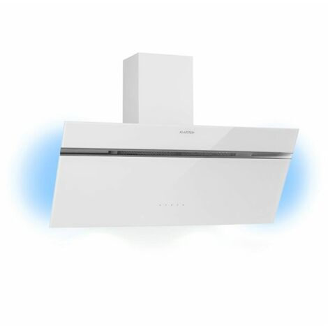 Klarstein Alina Cooker Extractor Hood 90 cm 600 m³ / h Ambient Light Glass Front White