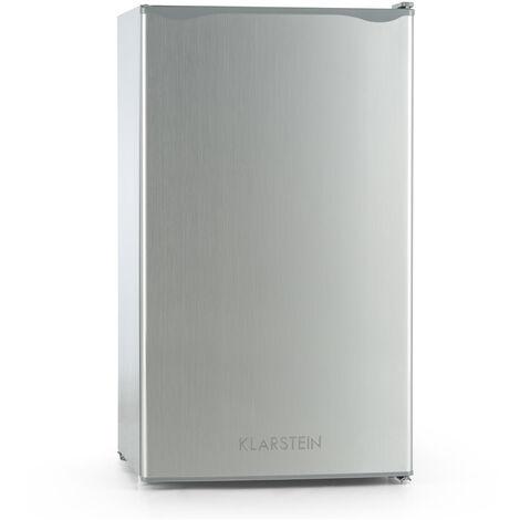 Klarstein Alleinversorger Nevera 90 L Clase A+ 2 bandejas Congelador 7 L acero i
