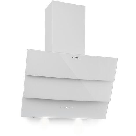 Klarstein Antonia Campana extractora 60cm 350m³/h panel de control táctil EEC B vidrio color blanco