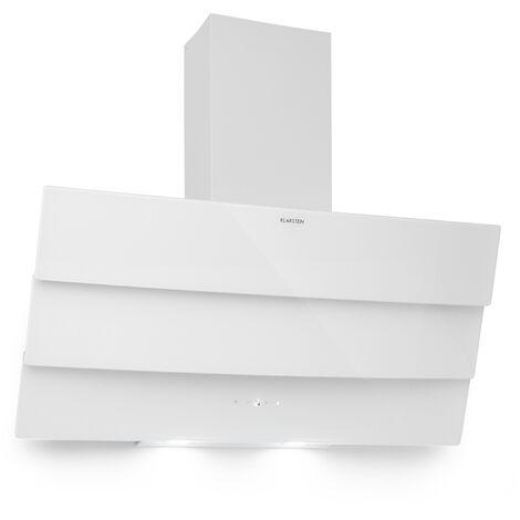 Klarstein Antonia Campana extractora 90cm 350m³/h panel de control táctil EEC B vidrio color blanco