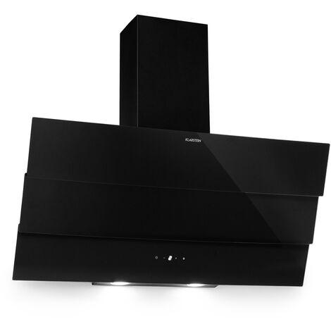 Klarstein Antonia Campana extractora 90cm 350m³/h panel de control táctil EEC B vidrio color negro