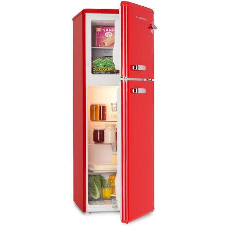 Klarstein Audrey Nevera con congelador Look retro Rojo