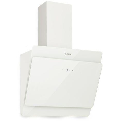 Klarstein Aurica 60 Campana extractora 60 cm Salida: 610 m³/h LED Cristal táctil Blanco