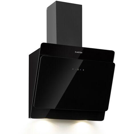 Klarstein Aurica 60 Extractor Hood 165W 3 Levels 620m³/h LED Glass Black