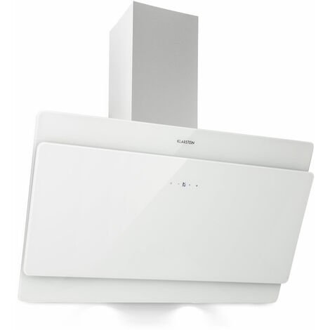 Klarstein Aurica 90 Cooker Extractor Hood 90cm Exhaust Air: 610 m³ / h LED Touch Glass White