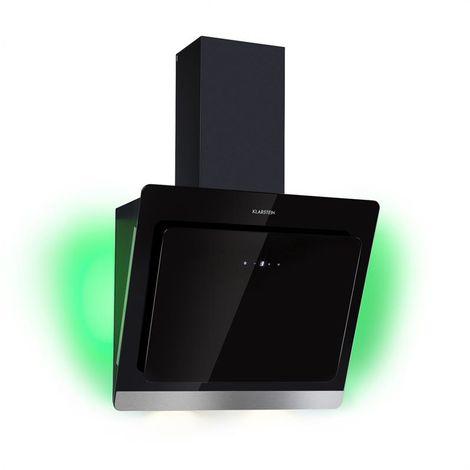 Klarstein Aurora Eco 60 Cooker Extractor Hood 550 m³ / h LED Display Black