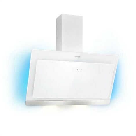 Klarstein Aurora Eco 90 Hotte aspirante 90cm 550 m³/h écran LED classe A++ blanc
