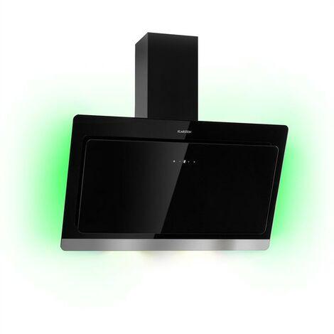 Klarstein Aurora Eco 90 Hotte aspirante 90cm 550 m³/h écran LED classe A++ noir
