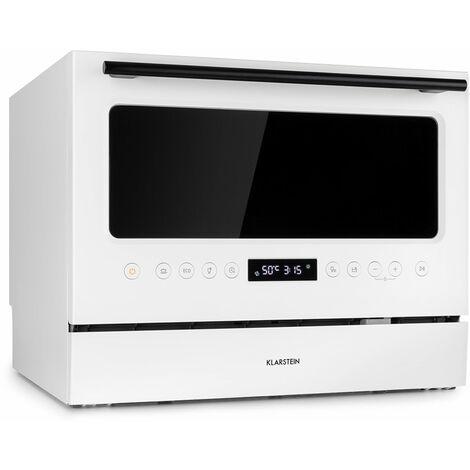 Klarstein Azuria Dishwasher EEC A + 1380W 6,5L 6 Covered Glass Front White