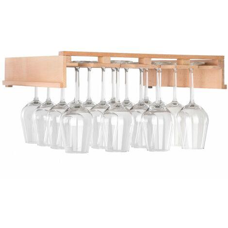 Klarstein Barossa 102D Wine Glass Shelf Accessories 4 Rails Real Wood