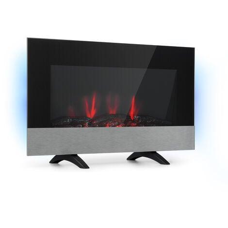 klarstein Basel Baseline cheminée électrique 2000 W 2 vitesses Thermostat verre inox