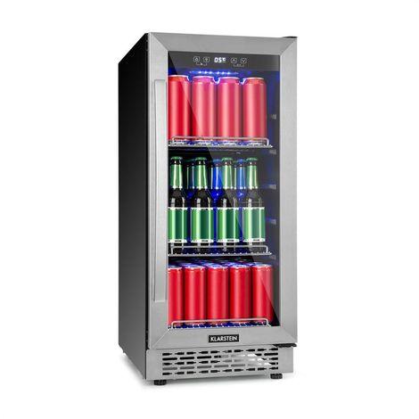 Klarstein Beerlager 88 Beverage Refrigerator 88l 33 fl. EEC A Stainless Steel Black