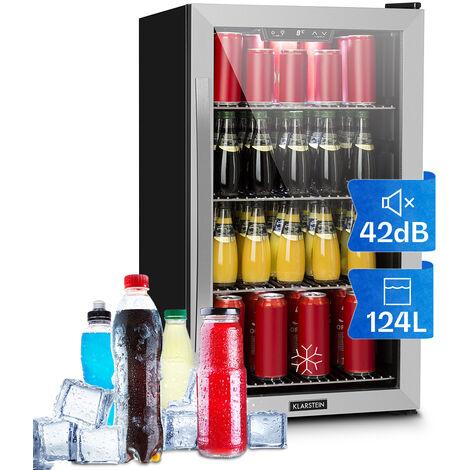 Klarstein Beersafe 4XL Réfrigérateur à boissons 124L Classe A+ - Verre & inox