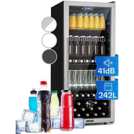 Klarstein Beersafe 7XL Getränkekühlschrank 242L A+ Glas Edelstahl