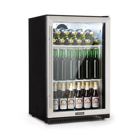 Klarstein Beersafe Pro Refrigerador 133 L Puerta de vidrio 2 estantes Negro