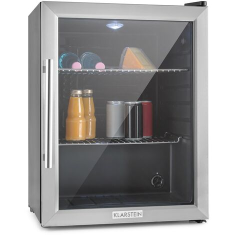 Klarstein Beersafe XL mini nevera frigorifico pequeño puerta vidrio acero inox.