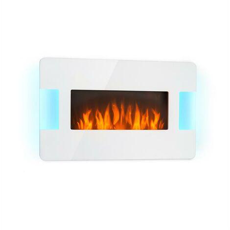 Klarstein Belfort Light & Fire Cheminée électrique chauffage 1000W 2000W - blanc