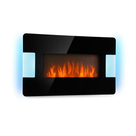 Klarstein Belfort Light & Fire Chimenea eléctrica 1000/2000W Negro