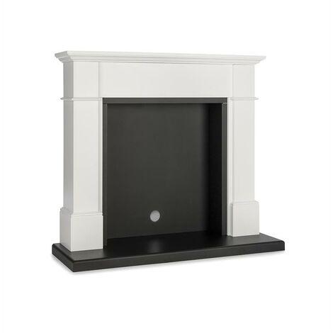 Klarstein Biel Revêtement de cheminée design élégant MDF blanc