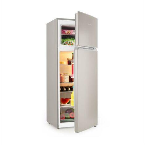 Klarstein Big Daddy L Frigorífico con congelador 207 litros A++ Acero inoxidable