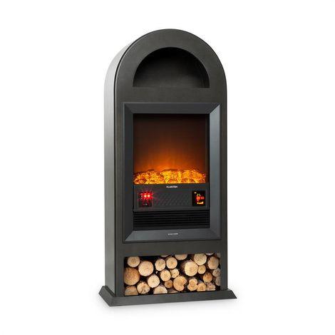 Klarstein Blockhouse Cheminée électrique pose libre chauffage > 2000W - noir