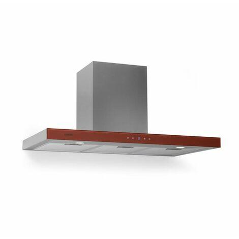Klarstein Bon Vivant Rouge Extractor Cooker Hood 90cm 650m³ / h Timer Glass LED