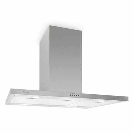klarstein Bonita Hotte aspirante 90cm design îlot extraction 500 m³/h acier clas