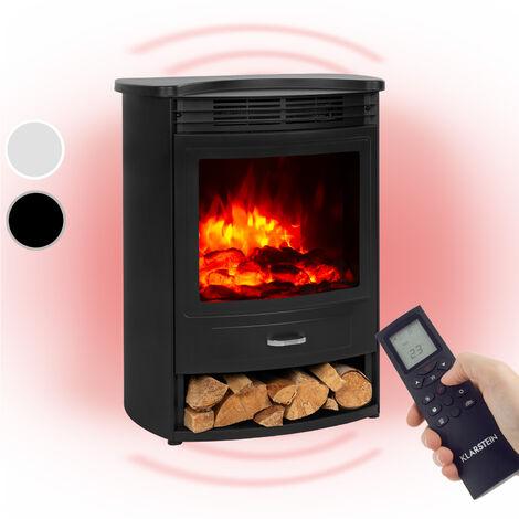 Klarstein Bormio S chimenea eléctrica 950/1900W termostato temporizador semanal negra
