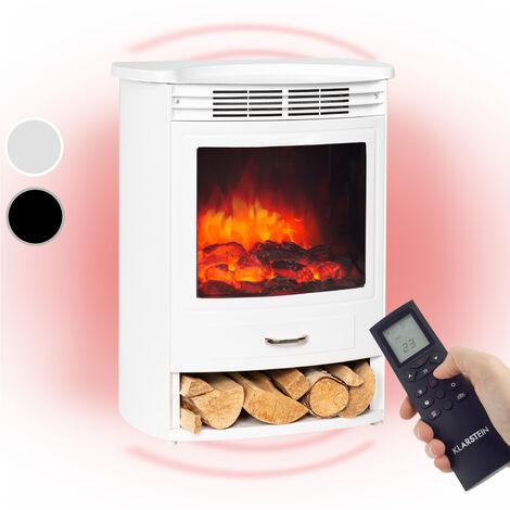 Klarstein Bormio S WH cheminée électrique 950 / 1900W thermostat minuterie hebdomadaire blanche