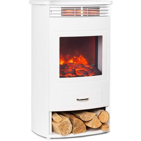 Klarstein Bormio WH cheminée électrique 950 / 1900W thermostat minuterie hebdomadaire blanche