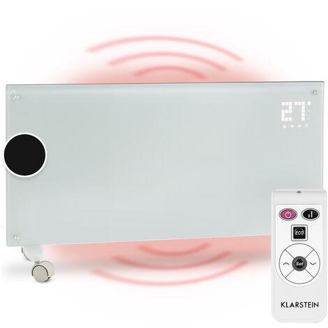 klarstein Bornholm Radiatore Convettivo Display LED 2 Livelli Riscaldamento Bianco